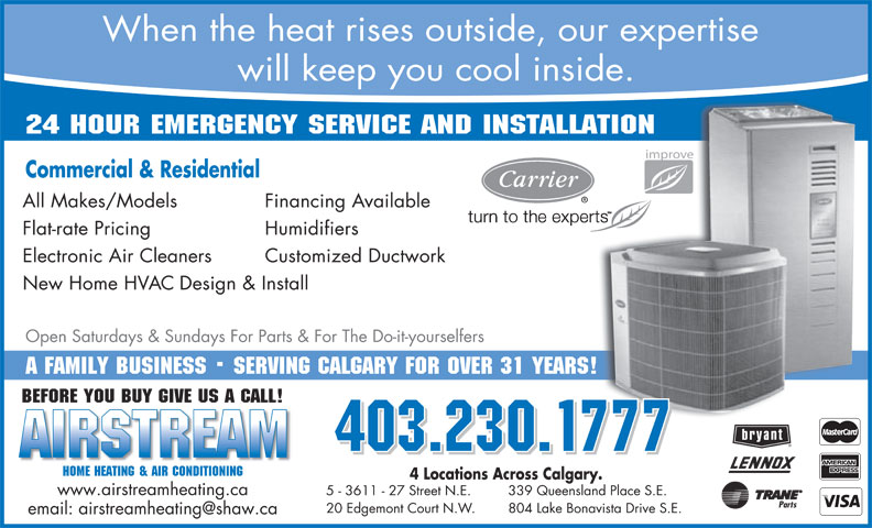 Ads Airstream Home Heating & Air Conditioning