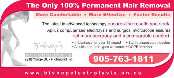 Ads Bishop's Electrolysis