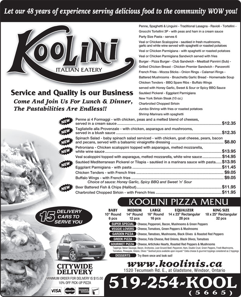 Ads Koolini Italian Eatery