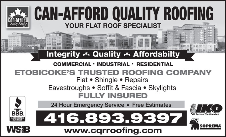 Ads Can Afford Quality Roofing