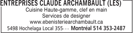 Ads Entreprises Claude Archambault (Les)