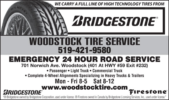 Ads Woodstock Tire & Heavy Duty Towing Service