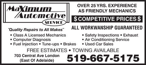 Ads Maximum Automotive Service