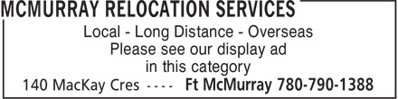 Ads McMurray Relocation Services