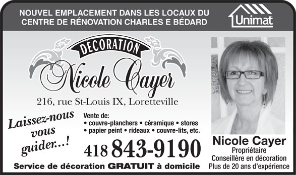 Ads Décoration Nicole Cayer