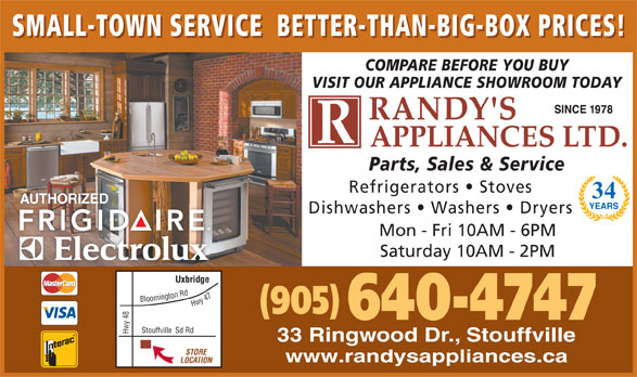 Ads Randy's Refrigeration & Appliances Ltd