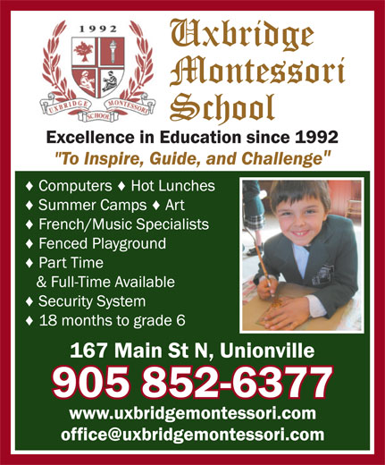 Ads Uxbridge Montessori School