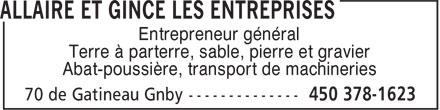 Ads Allaire Et Gince Les Entreprises - Tlcopieur