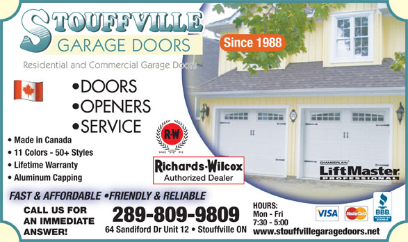Ads Stouffville Garage Doors