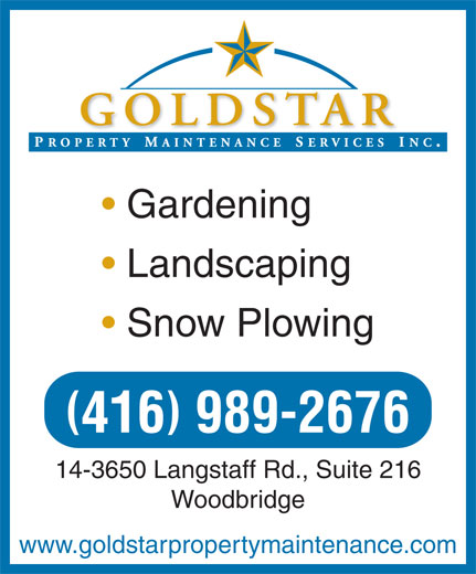 Ads Goldstar Property Maintenance Services Inc