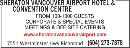 Ads Sheraton Vancouver Airport Hotel &amp; Convention Centre