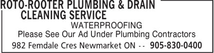 Ads Roto-Rooter Plumbing &amp; Drain Cleaning Service