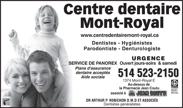 Ads Centre Dentaire Mont-Royal
