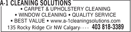 Ads A 1 Cleaning Solutions