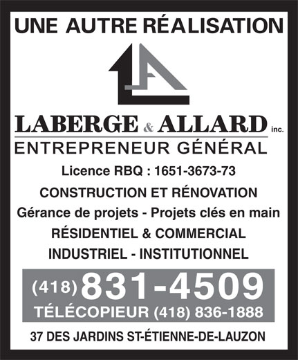 Ads Laberge & Allard Inc