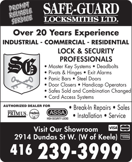 Ads Safe Guard Locksmiths Ltd