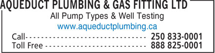 Ads Aqueduct Plumbing & Gas Fitting Ltd