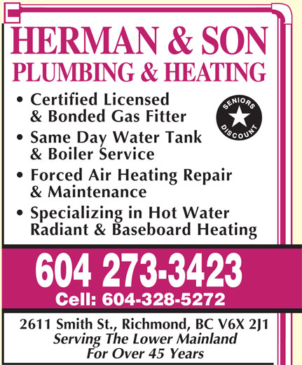 Ads Herman &amp; Son Plumbing &amp; Heating
