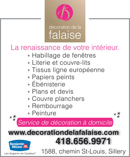 Ads Dcoration de la Falaise Inc