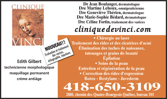 Ads Clinique De Vinci