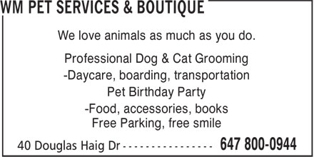 Ads WM Pet Services & Boutique