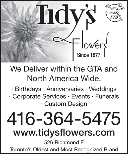 Ads Tidy's Flowers Inc