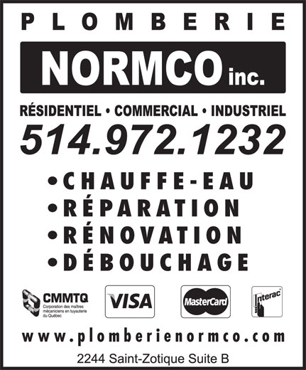 Ads Plomberie Normco Inc
