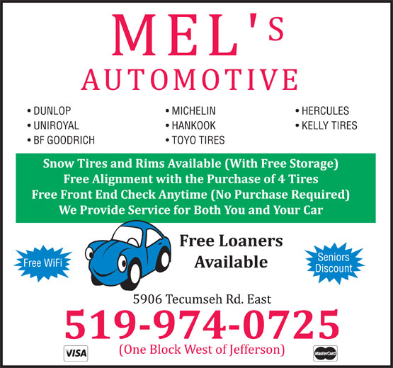 Ads Mel's Automotive
