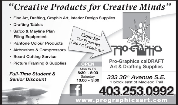 Ads Pro-Graphics Art Materials Ltd