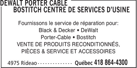 Ads Dewalt Delta Porter Cable Factory Service