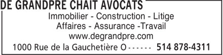 Ads De Grandpré Chait Avocats
