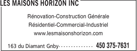 Ads Construction Horizon Inc