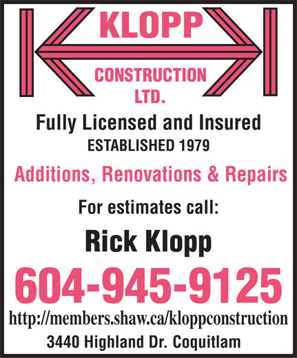 Ads Klopp Construction Ltd