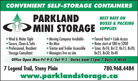 Ads Parkland Mini Storage & RV Storage