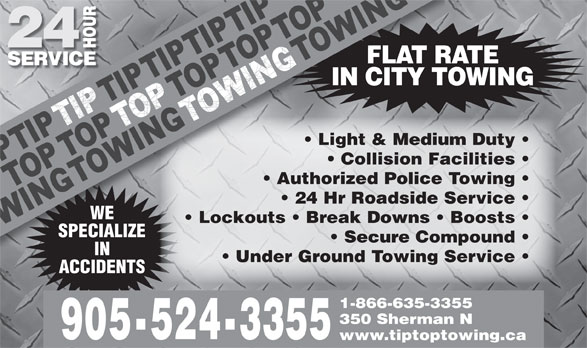 Ads Tip Top Towing Inc