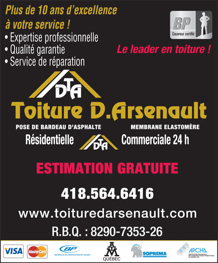 Ads Toiture D Arsenault Inc