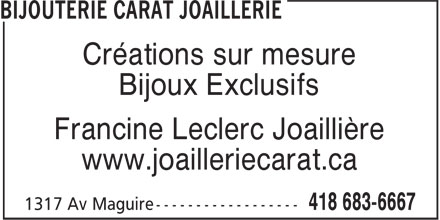 Ads Bijouterie Carat Joaillerie