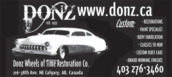 Ads Donz' Wheels Of Time Restoration