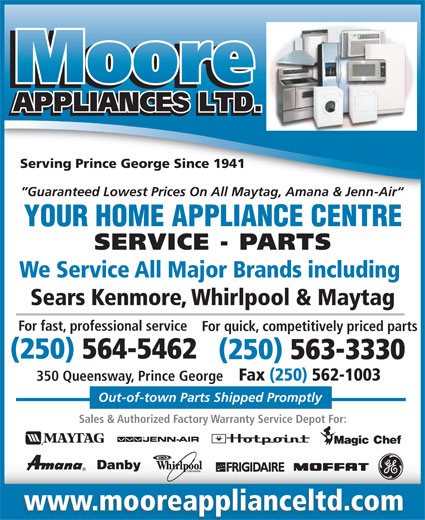 Ads Moore Appliance Ltd