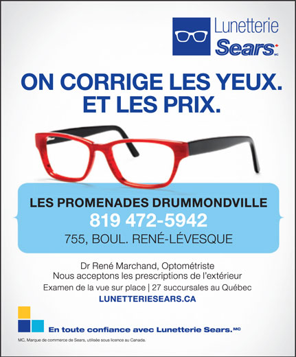 Ads Lunetterie Sears