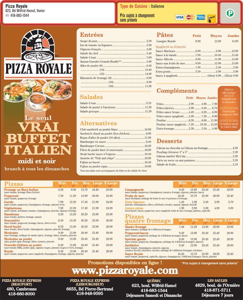 Ads Pizza Royale