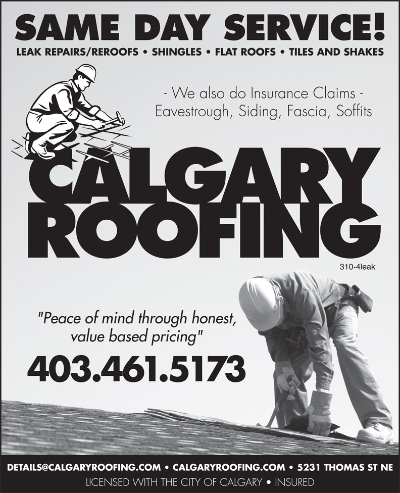 Ads Calgary Roofing