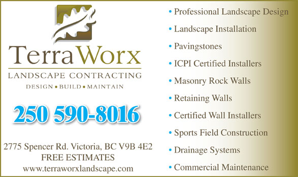 Ads Terraworx Landscape Contracting Inc