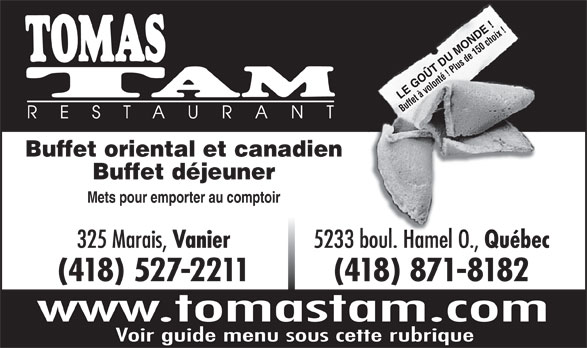 Ads Restaurant Tomas Tam Inc