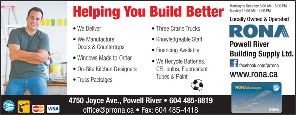 Ads Powell River Building Supply Ltd
