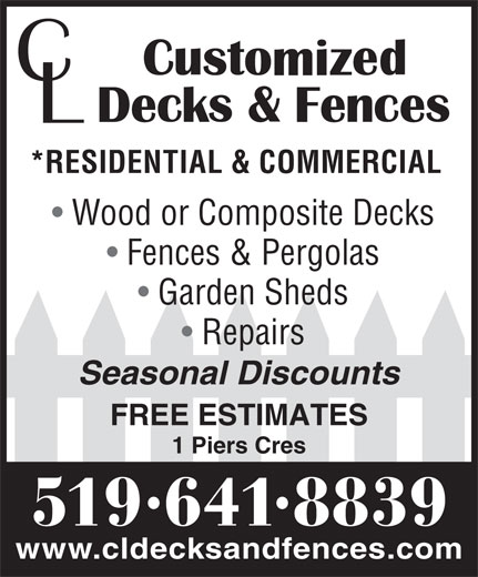 Ads CL Customized Fences & Decks