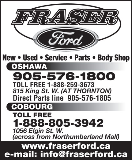 Ads Fraser Ford Sales Limited