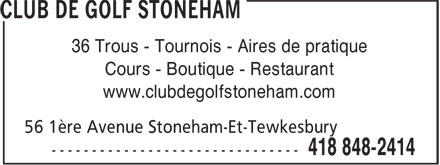 Ads Club de Golf Stoneham