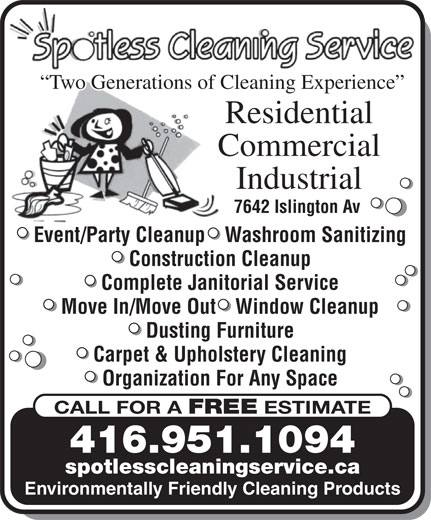 Ads Spotless Cleaning Service