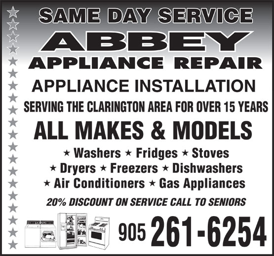 Ads Abbey Appliance Repair